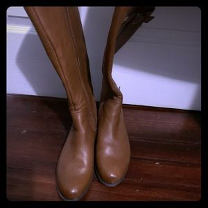 Naturalizer leather wide calf boots